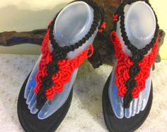 Macramé coloridas sandalias tamaño 9 por MacrameandCobbleria