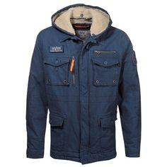 Kuschelige blaue Jacke mit Fellkapuze ab 149,90 € Hier kaufen: http://www.stylefru.it/s504550 #fell #blau #alpha