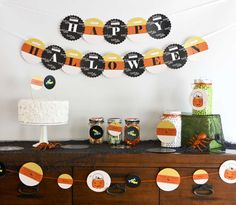 Fun Halloween dessert table!  See more party planning ideas at CatchMyParty.com!