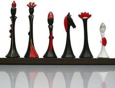 Mid-century modern chess set