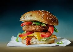 Dutch realism has always been my favorite but this is a whole other level. Cheeseburger, 2012 (Tjalf Sparnaay)