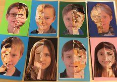 Idag fick mina elever skapa sina självporträtt med hjälp av collageteknik. Först visade jag mitt exempel som jag hade gjort av min porträtt. Sedan visade jag steg för steg hur de skulle göra och pr...