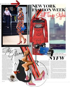 """NYFW , look nr 3"" by my-world-in-colors ❤ liked on Polyvore"