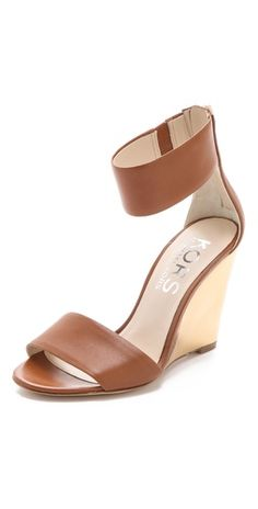 Michael Kors leather wedge sandals-gorgeous spring/summer essential!