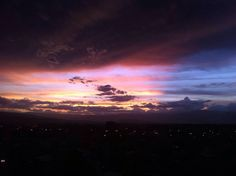Sunset in Cochabamba-Bolivia