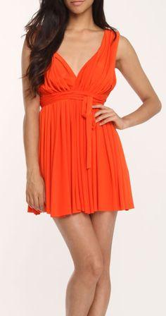 Grecian Coral Dress / sara boo, Cute dress Idea for Bridal Shower..