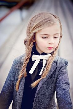 Borrowed from the boys Cute Poses, Child Models, Girls Accessories, Beautiful Babies, The Borrowers, Cute Kids, Girl Fashion, Bows, Tie