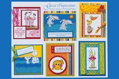 July 2010 DIY Artboard of Cards & Stamps from GreatImpressionsStamps.com