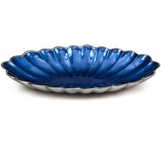 Julia Knight Peony Oval Bowl - Sapphire - 41cm ($89) ❤ liked on Polyvore featuring home, kitchen & dining, serveware, blue, colored dishes, oval bowl, blue serving bowl, blue dishes and oval dishes