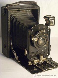 todocoleccion: cámara antigua del año 1909. Ernemann Heag 1 Objetivo Detektiv Aplanat  105mm