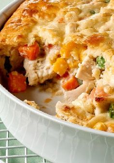 Savory Chicken Pot Pie – When a chicken pot pie bubbles and oozes this much creamy comfort in every bite, you know you're home.