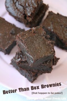 Better than Box Brownies {that happen to be paleo!}