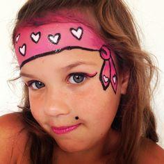 Meisjes piraat schmink