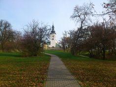 Pohľad na kostol Panny Márie, Prievidza - Mariánsky vŕšok.