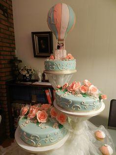 2012-9-22 Wedding Cake (Hot Air Balloon Motiv) - Cake Decorating ...