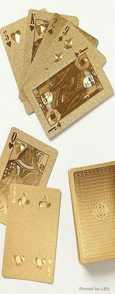Gold Dipped luxury | LBV ♥✤ A deck of golden playing cards; To all shopaholics out there...Worldwide ; this one's definitely for you! Imagine: Turning your Expenses into Income... Possible? See for yourself! Earn money on money you already spend! Membership is ABSOLUTELY FREE! Get money back with every purchase* at any Lyoness Merchant worldwide and benefit from the largest shopping community in the world! ; www.mylyconet.com/iboiya/