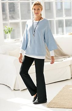Pure Jill ultrasoft kimono-sleeve sweater