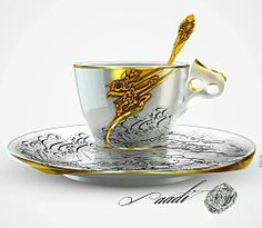 ♡♥ Cup with Persian Calligraphy Arabic Calligraphy Art, Arabic Art, Caligraphy, Arabesque, Tea Cup Saucer, Tea Cups, Vintage Birds, Letter Art, China Porcelain