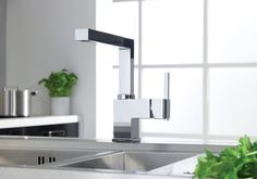 The Bristan Enzor Kitchen Tap (EN SNK C) is a great looking chunky tap with a cube-like design.