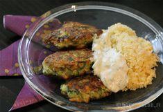 kesakurpitsafritit3 Falafel, Zucchini, Grains, Rice, Snacks, Meat, Chicken, Vegetables, Food