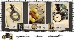 "A bowl full of Lemons - ""organize, clean, decorate"""