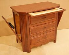 Beautiful Hand Crafted Cherry Nightstand Dimensions: Wide X 18 Deep X Tall (Custom Sizes Available) Hidden Gun, Beautiful Hands, Flute, Beds, Furniture, Home Decor, Decoration Home, Room Decor, Bedding