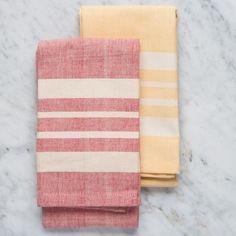 Thick Stripe Kitchen Towels (100% Cotton)