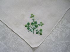 Vintage Handkerchief Irish Green Shamrock by SharetheLoveVintage, $6.00