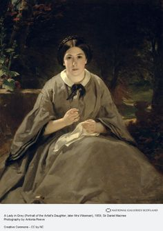 Sir Daniel Macnee, A Lady in Grey (Portrait of the Artist's Daughter, later Mrs Wiseman) (Dated 1859)