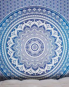 Pink & Purple Ombre Mandala Tapestry