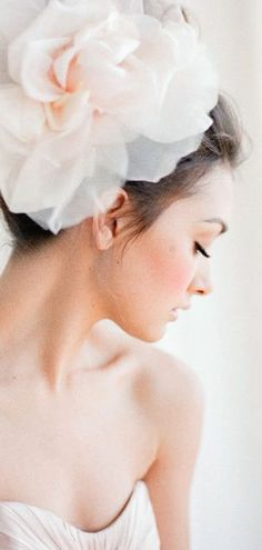 Oh so feminine via Wedding Hats, Rose Wedding, Spring Wedding, Wedding Bells, Wedding Dresses, Moustaches, Peach Blush, Mademoiselle, Bridal Show