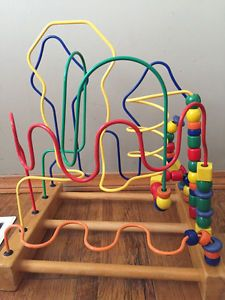 wooden toys wire beads maze how to do yourself Labyrinth Design, Maze Design, Kids Toys For Boys, Buy Toys, Wood Toys, Wooden Diy, How To Make Beads, Wooden Beads, Crafty