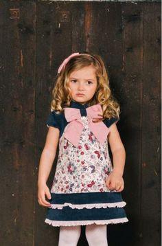 Vestido estampado volantes tira bordada - Erizzos Marketplace de tiendas para niños de 0 a 14 años