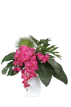 Beautiful Pink Orchid Silk Flower Arrangement.  Free Shipping. Faux Flowers, Silk Flowers, Modern Floral Design, Floral Designs, Pink Home Accessories, Beautiful Flowers, Beautiful Bouquets, Faux Flower Arrangements, Silk Plants