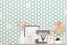 Wall Stencil- Geometric Pattern Stencil - Allover Seamless Stencil