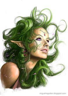 """""""Azata"""" by Miguel Regodón Harkness on DeviantArt. (fantasy art, elf)"""