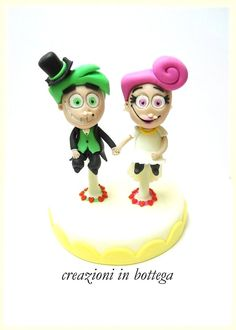 un cake topper particolare!  Cosmo e Wanda -Due fantagenitori  (The Fairly OddParents)