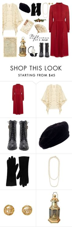 """""""Simply Vintage"""" by hchfashion ❤ liked on Polyvore featuring Karen Millen, Burberry, Yves Saint Laurent, Christian Dior, Chanel and vintage"""