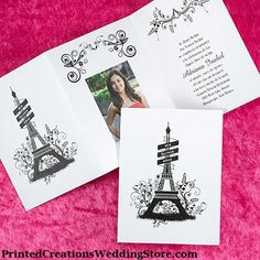 This City of Love Invitation is perfect for sharing a photo and inviting guests to your Paris themed Quinceanera celebration.  See this 15th Birthday invitation and many more here - http://printedcreations.carlsoncraft.com/Photo/Birthday/3174-JK1665NFIP-City-of-Love--Invitation-with-Photo.pro.  #quinceanera  #quincenera  #quinceanos