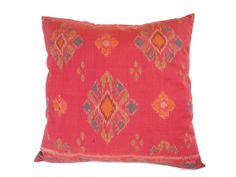 Indonesian Ikat Pillow Cushion Hand Woven Hand Dyed by ginette1223, $21.00