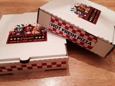 Five Nights At Freddy's Party Favor Pizza Box Kits #BirthdayChild