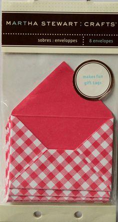Martha Stewart Crafts Tiny Envelopes Pink Mini Envelopes are available at Scrapbookfare.