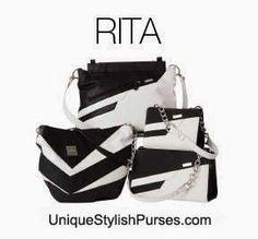 Unique Stylish Purses | Miche Bags: Miche Rita Black & White Shells