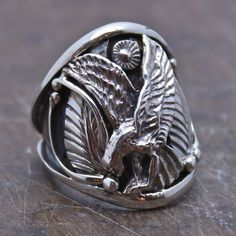 Eagle's Pride Sterling Men's Ring
