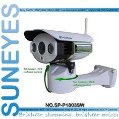 SunEyes SP-P1803SW 1080P Full HD Pan / Tilt IP kamera Bezdrôtová Vonkajší Wifi Podpora Micro SD Card Slot