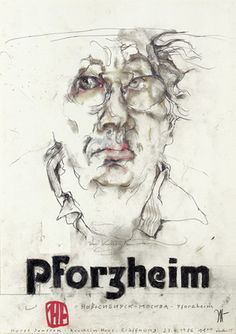 Horst Janssen Pforzheim - Selbstportrait,1986