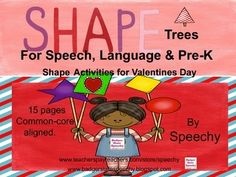 "I have many students this year struggling with shapes and colors!  Trees have a natural ""triangle"" shape so it's time to learn important concepts while decorating shape trees!   With Valentines day just around the corner, I'm excited to offer this free product to work on colors, shapes, following directions, location concepts, prepositional phrases, pre-math concepts or use as an open-ended speech activity."