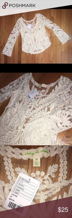 🌟Cute Staring at the Stars Top🌟 ⭐️⭐️⭐️Beautiful NWT top from Urban Outfitters. Staring at the Stars brand. Perfect for summer and would look adorable with cute bralettes!! ⭐️⭐️⭐️ Urban Outfitters Tops Blouses