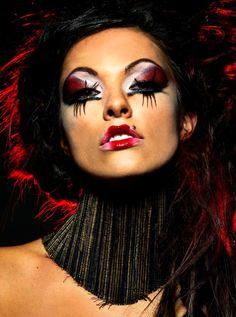 ; high fashion makeup. ♥