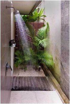 7 Amazing Cool Ideas: Natural Home Decor Feng Shui Front Doors natural home decor ideas backyards.Natural Home Decor Rustic Plants natural home decor inspiration coffee tables.Natural Home Decor Ideas Decoration. Tropical Bathroom Decor, Bathroom Plants, Bathroom Beach, Nature Bathroom, Cream Bathroom, Small Bathroom, Outdoor Baths, Outdoor Bathrooms, Outdoor Showers